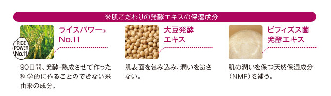 発酵エキス保湿成分